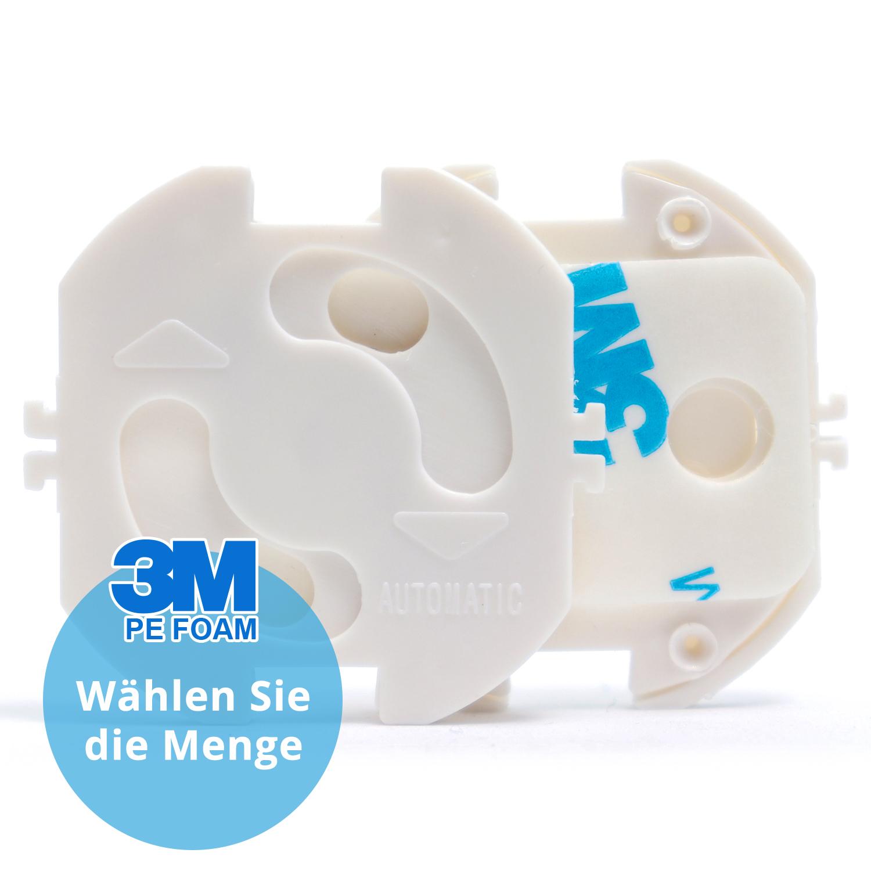 10 Stück Steckdosensicherungen Kindersicherungen Weiss Plastik Neu